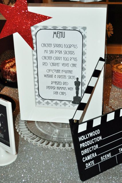 Academy Awards Movie Ladies Night Party Ideas Card