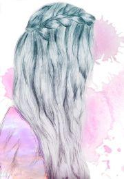 waterfall braid hair art cute