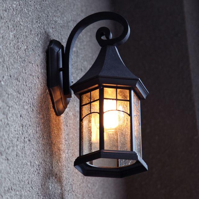 Vintage lmpara de pared patio exterior lmparas Retro pasillo a prueba de agua luz lmpara de pared  Ideas para el hogar  Pinterest