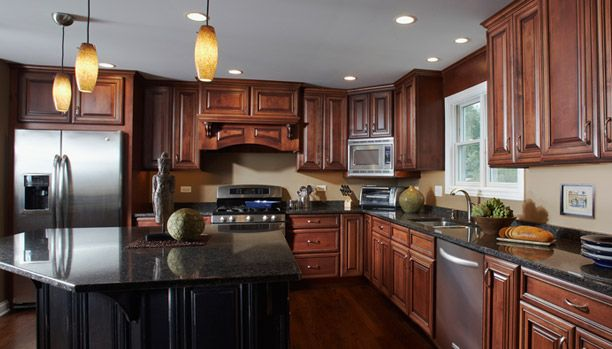 cherry wood kitchen island cabinets rochester ny woodland cabinetry: style: provincial; wood: alder; glaze ...