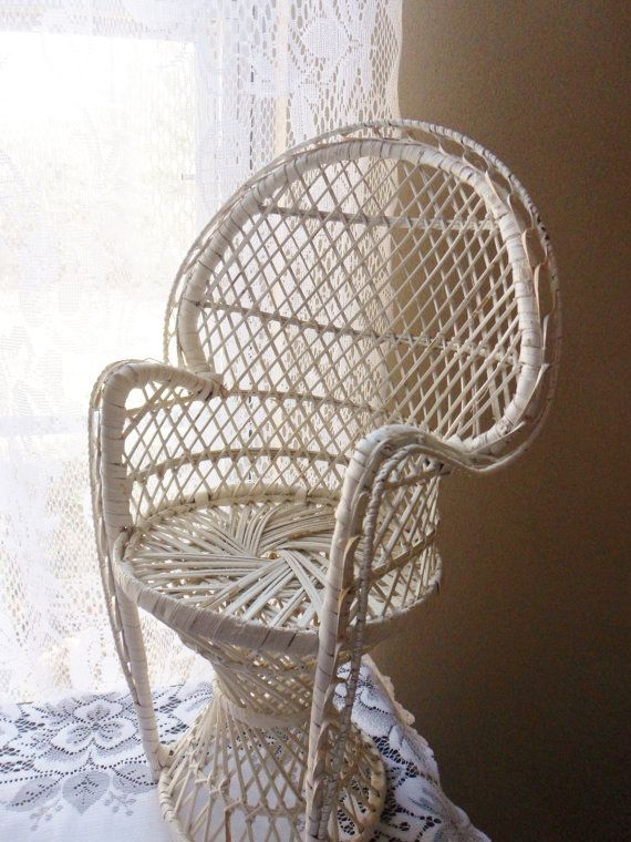 1000 images about Wicker doll chairs on Pinterest  White