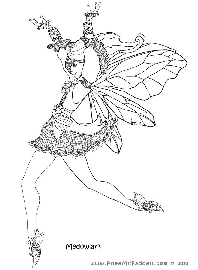 1000 Images About Faerie Coloring Pages