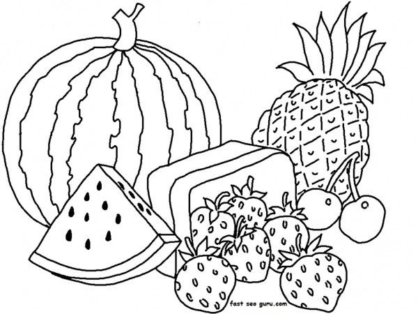 48 best images about fruit and veggie coloring pages on