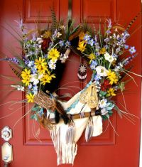 Native American Indian wreath, X-Large Wall Decoration ...