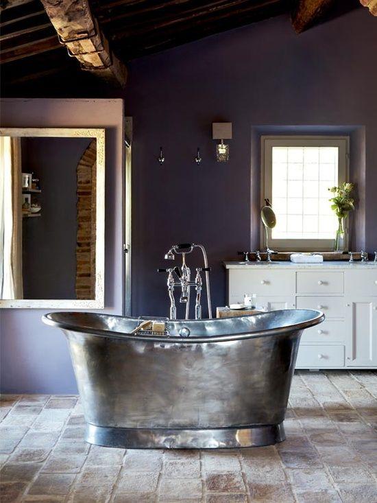 Italian Farm House Galvanized Metal Bathtub