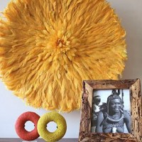 Feather headdress wall decor | I HEART Vignettes/Styling ...