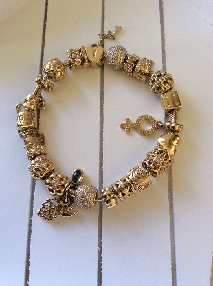 Gold Pandora Bracelet My Pandora Pinterest Pandora