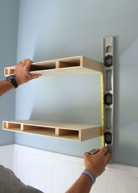 25+ best ideas about Floating media shelf on Pinterest