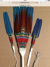 78+ images about Peyote Feather Fans on Pinterest | L'wren ...