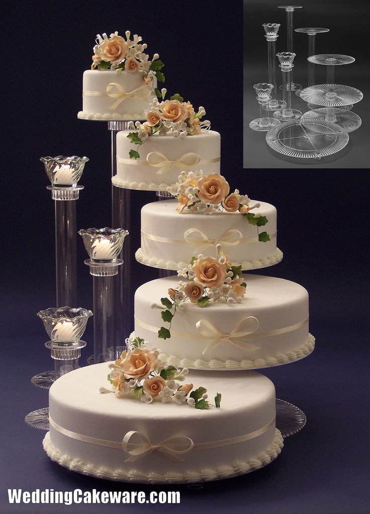 5 tier cascading wedding cake stand stands  3 tier candle