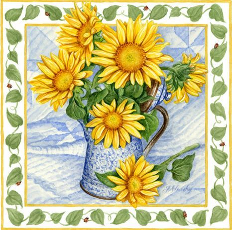 clipart sunflowers