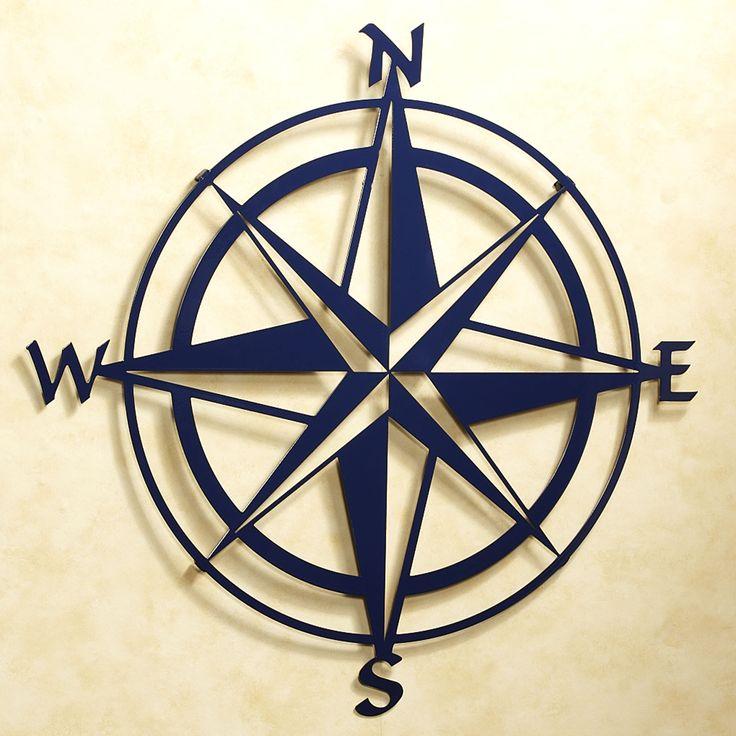 Compass Rose Indoor Outdoor Metal Wall Art