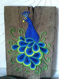 "Peacock Wall Art ""Essence of Elegance"", polymer clay ..."