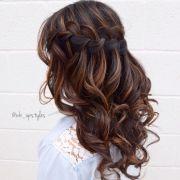 waterfall braid prom ideas