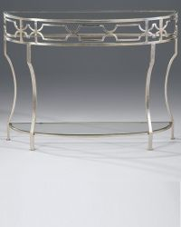 console tables - hand-wrought iron demilune console table ...