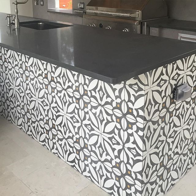 Cement Tiles Outdoor Kitchens And Cement On Pinterest
