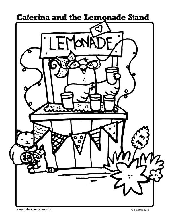 Free Coloring Page from picture book, CATERINA AND THE