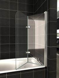 180 Pivot Glass Over Bath 2 Fold Folding Shower Screen