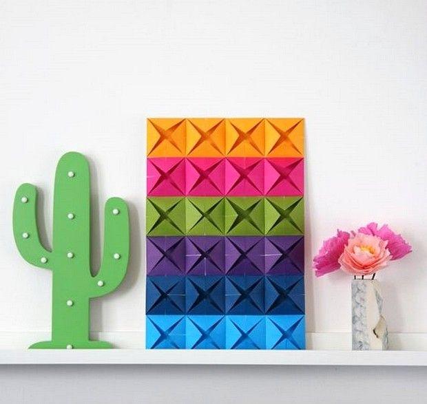 Contoh Gambar Hiasan Dinding Kamar Dari Kertas Origami