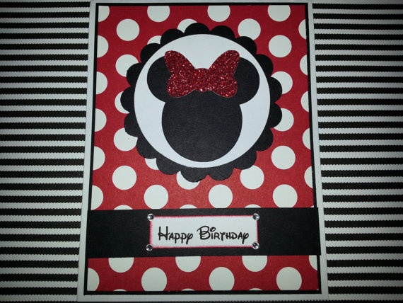 Handmade Minnie Mouse Birthday Card By ItsPolkaSpotted On