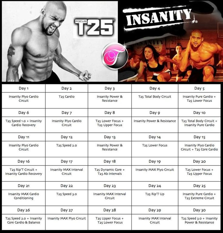 Insanity Max Schedule New Calendar Template Site - Modern