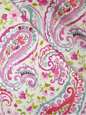 Watercolors Orchids and Paisley fabric on Pinterest