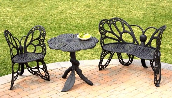 Wrought Iron Butterfly Chairs Butterfly Patio Furniture Butterfly Chair Buttefly Table
