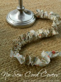 No Sew Ruffled Electrical Cord Cover - Hide Those Cords in ...