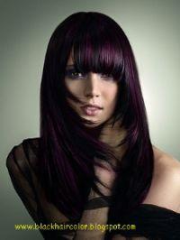 Dark Burgundy Hair Color With Highlights | Dark Hair ...