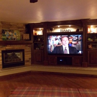 17 Best ideas about Corner Entertainment Centers on