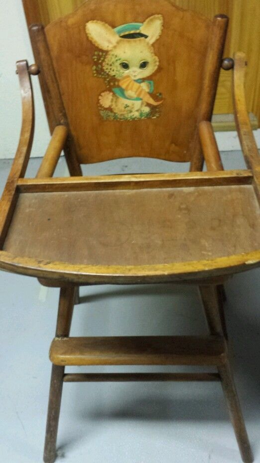 wooden high chairs for babies go anywhere chair harness 1000+ images about 1950s vintage on pinterest | potty chair, baby dolls and 1940s