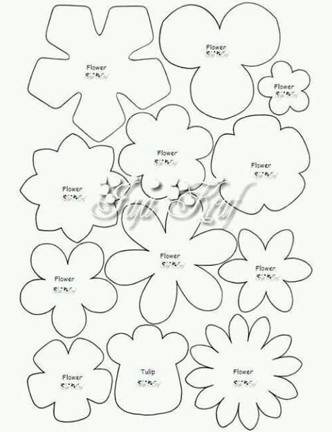42 best images about Templates for wafer paper flowers on