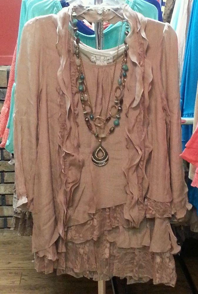 Plus Size 1X Lady Noiz Boutique Lace Ruffle Tunic  Colors