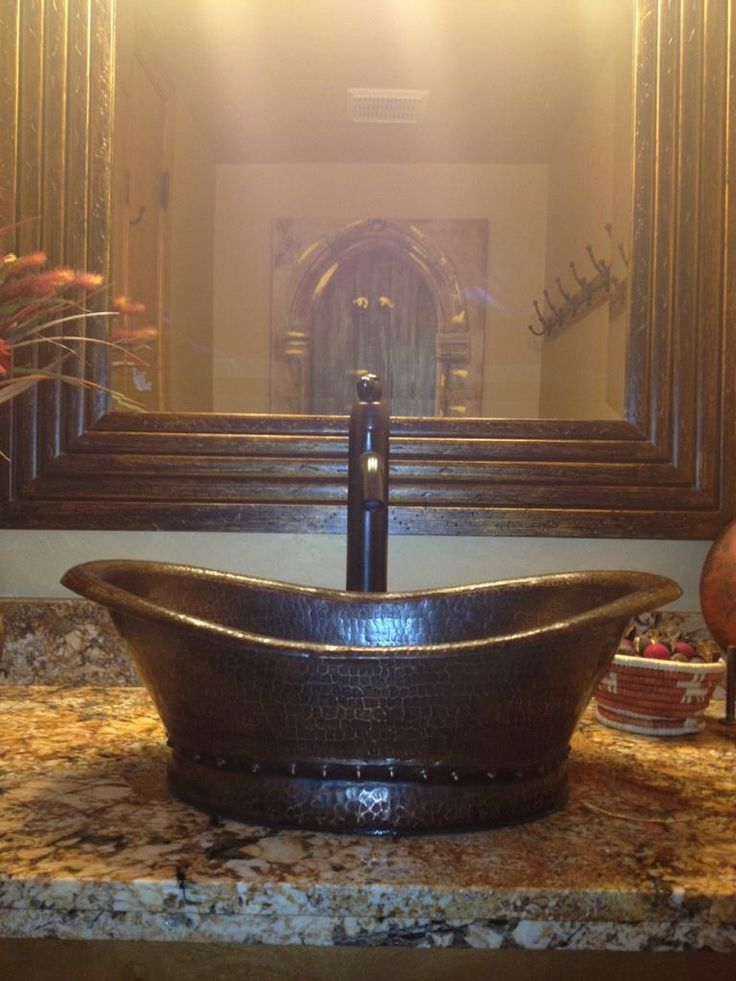 25 best ideas about Copper Bathroom Sinks on Pinterest  Industrial bathroom sink faucets