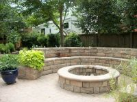 Fire Pit With retaining wall Seating | Landscape ...