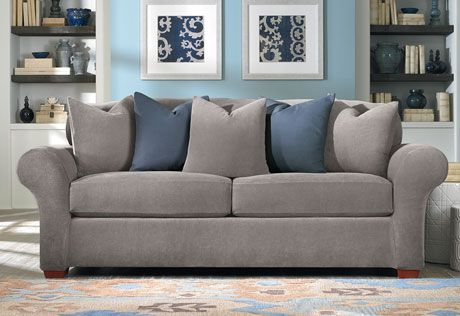 Flannel Gray And Blue Oh So Cozy! Sure Fit Slipcovers Stretch