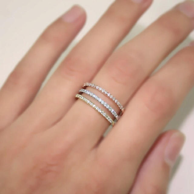Micro Pave Diamond Ring Band Cool Costume Jewelry For You