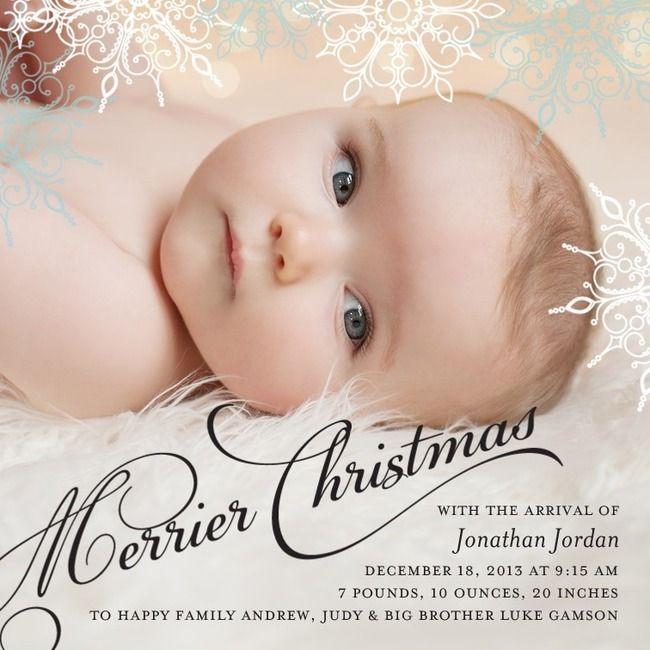 Best 25 Christmas Birth Announcements Ideas On Pinterest