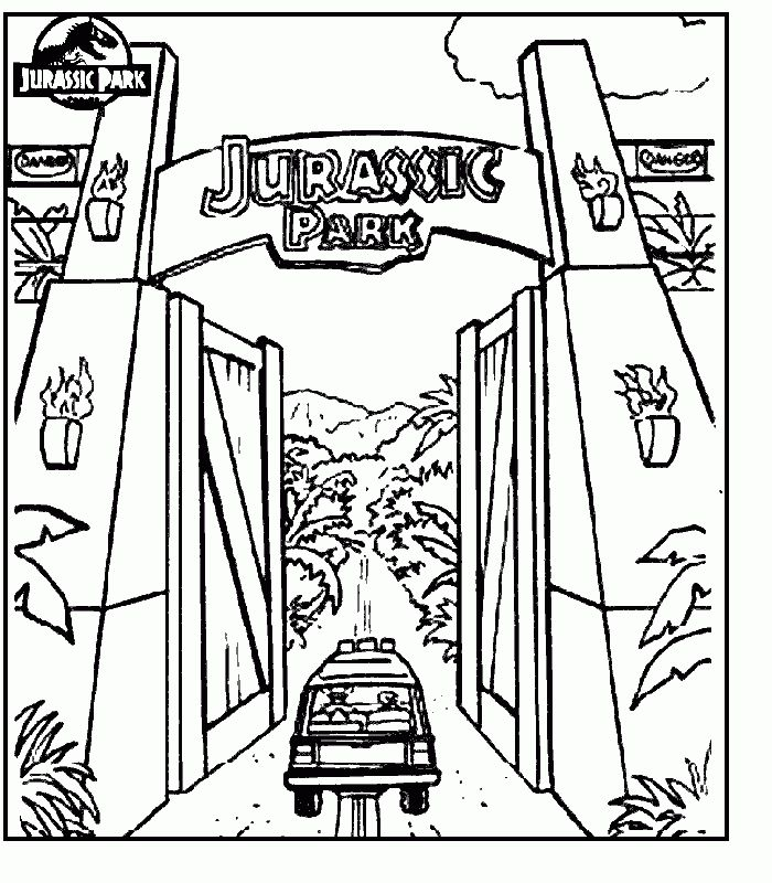jurassic park coloring pages com  colouring pages