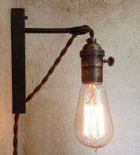 Hanging Pendant Wall Sconce. Retro Edison Lamp. Plug in