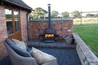 Outside Log Burner | Future Home Ideas | Pinterest | Log ...