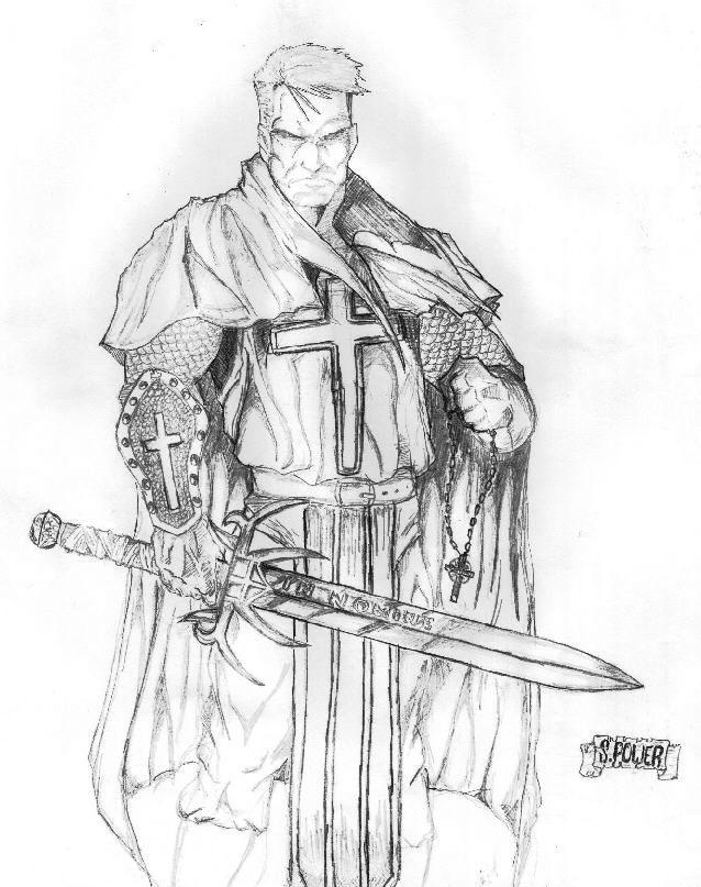 The crusader, soldier of the cloth. Deliverer of God's