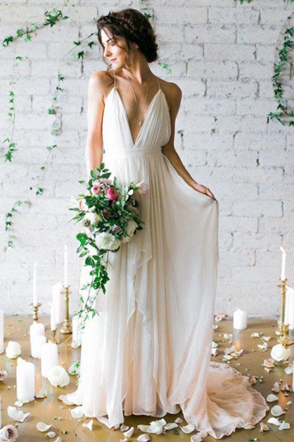 Best 25 Beach wedding gowns ideas on Pinterest