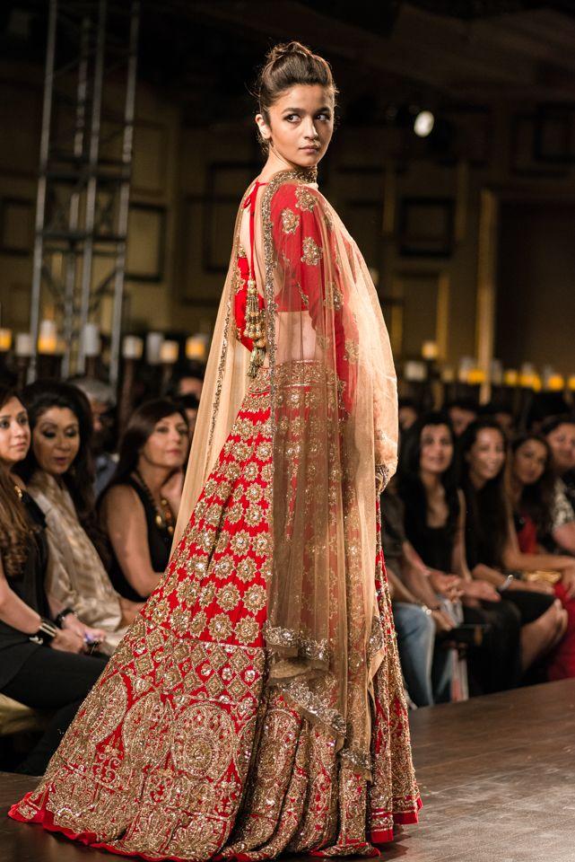 Alia Bhatt in Manish Malhotra bridal creation