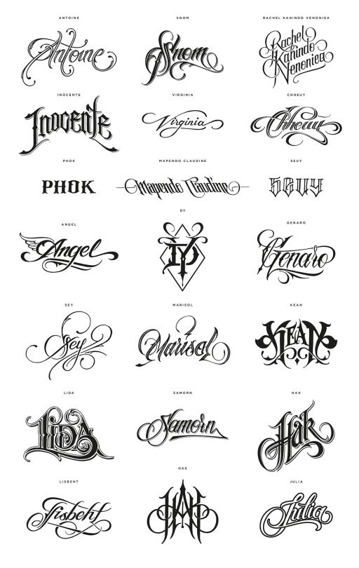 17 Best ideas about Tattoo Lettering Styles on Pinterest