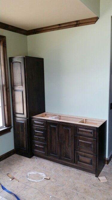 Custom vanity Wood doors and Stains on Pinterest