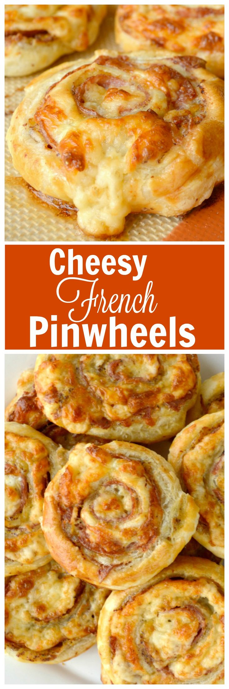 Cheesy French Pinwheels. A super easy appetizer that starts with store bought puff pastry. These are delic