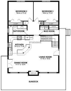 25 Best Ideas About 2 Bedroom House Plans On Pinterest Small Floor Retirement And