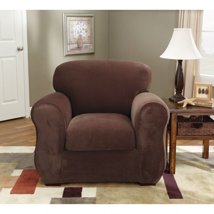 sure fit stretch plush 2 piece t sofa slipcover white leather modular 15 must-see slipcovers pins | covers, ...