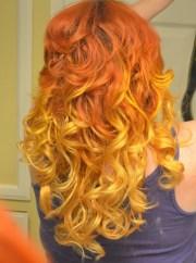 diy ombre red orange yellow hair